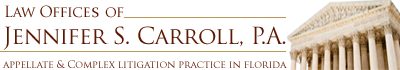 Law Offices of Jennifer S. Carroll, P.A. logo